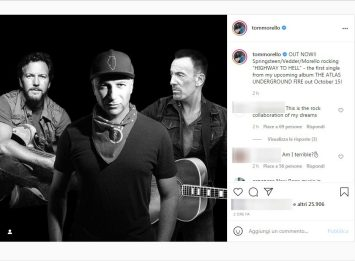 Tom Morello, la cover di Highway to Hell con Springsteen e Vedder