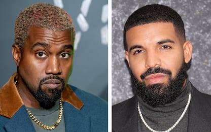 Kanye West e Drake, cosa sta succedendo tra i due: i motivi della lite