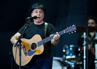 GLASTONBURY, ENGLAND - JUNE 26: Paul Simon performs live on the pyramid stage during the Glastonbury Festival at Worthy Farm, Pilton on June 26, 2011 in Glastonbury, England. The festival, which started in 1970 when several hundred hippies paid 1 GBP to attend, has grown into Europe's largest music festival attracting more than 175,000 people over five days.  (Photo by Ian Gavan/Getty Images)