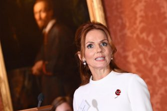 LONDON, ENGLAND - OCTOBER 31: Geri Horner during a reception for winners of the Queen's Commonwealth essay competition 2019 at Buckingham Palace on October 31, 2019 in London, England. The Duchess of Cornwall, Vice-Patron of The Royal Commonwealth Society, attends on behalf of Her Majesty The Queen, Patron of The Royal Commonwealth Society. The worlds oldest international writing competition for schools was founded in 1883 to promote literacy, expression and creativity among young people throughout the Commonwealth. (Photo by Jeff Spicer - WPA Pool/Getty Images)