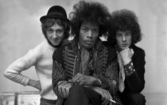 American Rock Group The Jimi Hendrix Experience From Left to Right:-Mitch Mitchell: Jimi Hendrix: Noel Redding. (Photoshot/Getty Images)