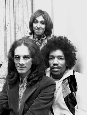 Noel Redding, Mitch Mitchell and Jimi Hendrix of The Jimi Hendrix Experience in the UK, late 1960s (Photo by Chris Walter/WireImage)