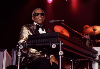 American R&B, Pop, Country, and Soul musician Ray Charles (1930 - 2004) plays piano as he performs onstage at the Casino do Estoril, Cascais, Portugal, July 22, 1988. (Photo by Rita Barros/Getty Images)