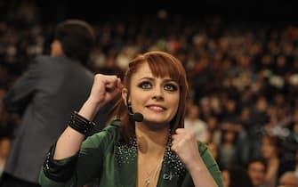 Annalisa Scarrone durante la finale del programma 'Amici'. ANSA/ GUIDO MONTANI