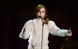 SANREMO, ITALY - FEBRUARY 13:  Annalisa Scarrone attend the second night of the 63rd Sanremo Song Festival at the Ariston Theatre on February 13, 2013 in Sanremo, Italy.  (Photo by Venturelli/WireImage)
