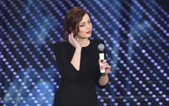 SANREMO, ITALY - FEBRUARY 13:  Annalisa attends the closing night of 66th Festival di Sanremo 2016 at Teatro Ariston on February 13, 2016 in Sanremo, Italy.  (Photo by Venturelli/Getty Images)
