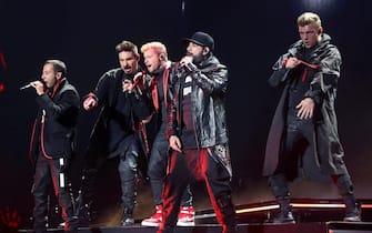 epa07568167 US band Backstreet Boys performs during a concert held at Palacio de los Deportes in Madrid, Spain, 13 May 2019.  EPA/Kiko Huesca