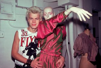 Billy Idol at a stylist's loft in New York, New York, September 24,1981. (Photo by Paul Natkin/Getty Images)