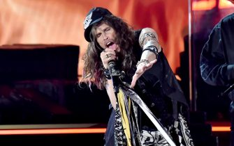 LOS ANGELES, CALIFORNIA - JANUARY 26: Aerosmith preform onstage during the 62nd Annual GRAMMY Awards at Staples Center on January 26, 2020 in Los Angeles, California. (Photo by Jeff Kravitz/FilmMagic)