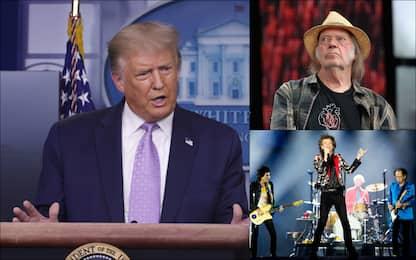 Neil Young fa causa a Trump: tutti gli artisti contro il tycoon. FOTO