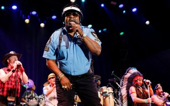 Victor Willis of Village People performs on stage at PNE Amphitheatre on September 2, 2018 in Vancouver, Canada. *** Local Caption *** Victor Willis