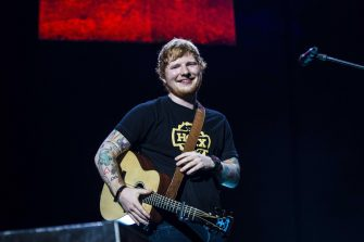 epa05886754 British singer-songwriter Ed Sheeran performs during a concert at the Ziggo Dome in Amsterdam, The Netherlands, 03 April 2017.  EPA/PAUL BERGEN   EDITORIAL USE ONLY