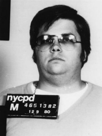John Lennon's assassin Mark David Chapman poses for a mugshot on December 9, 1980 in New York . (Photo by Bureau of Prisons/Getty Images)  *** Local Caption *** Mark David Chapman