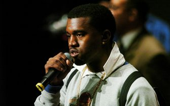 Kanye West during The Los Angeles 2004 Hip-Hop Network Summit at Bovard Auditorium in Los Angeles, California, United States. (Photo by Steve Grayson/WireImage)