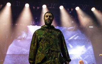 STOCKHOLM, SWEDEN - FEBRUARY 02: Liam Gallagher performs live in concert at the Ericsson Globe Arena on February 2, 2020 in Stockholm, Sweden. (Photo by Michael Campanella/Getty Images)