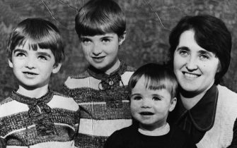 381296 02: Family portrait of the Gallagher family in the mid 1970's from left to right Noel, Paul, Liam and Mum Peggy Gallagher. Noel and Liam Gallagher are both in the British rock band Oasis. (Photo by Dan Callister/Liaison)