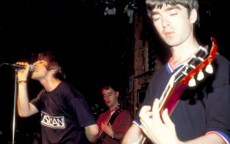 Liam Gallagher and Noel Gallagher of Oasis (Photo by Steve Eichner/WireImage)