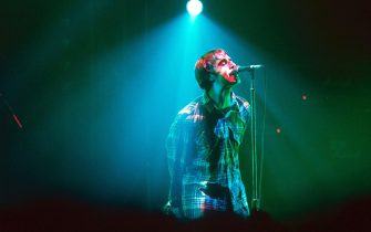 Oasis Performing In Blackpool, Britain - 1995, Liam Gallagher (Photo by Brian Rasic/Getty Images)