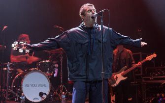 CHICAGO, IL - AUGUST 02:  Liam Gallagher performs with his band at the Park West, as part of the Official Lollapalooza Aftershow on August 2, 2017 in Chicago, Illinois.  (Photo by Barry Brecheisen/Getty Images)