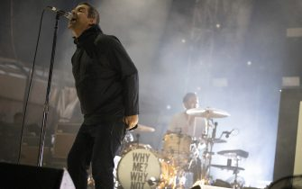PERTH, AUSTRALIA - DECEMBER 17: Liam Gallagher performs on stage at the Fremantle Arts Centre on December 17, 2019 in Fremantle, Australia. (Photo by Matt Jelonek/Wire Image)