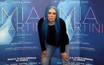 """La cantante Loredana Berte'  in occasione del photocall organizzato a margine della presentazione alla stampa del film su Mia Martini """"Io sono Mia"""". Milano 10 Gennaio 2019. ANSA / MATTEO BAZZI"""