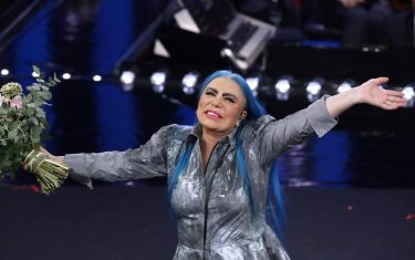 Italian singer Loredana Berte' on stage at the Ariston theatre during the 69th Sanremo Italian Song Festival, Sanremo, Italy, 06 February 2019. The Festival runs from 05 to 09 February. ANSA/RICCARDO ANTIMIANI