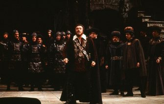 Italian tenor Luciano Pavarotti performs in the Metropolitan Opera production of 'La Favorita,' February 17, 1978. (Photo Robert R. McElroy/Getty Images)