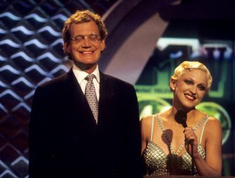 Madonna and David Letterman (Photo by Kevin Mazur Archive/WireImage)
