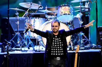 LOS ANGELES, CALIFORNIA - SEPTEMBER 01: Ringo Starr performs during the Ringo Starr and his All Starr Band concert at The Greek Theatre on September 01, 2019 in Los Angeles, California. (Photo by Kevin Winter/Getty Images)