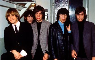 The Rolling Stones taken in the 1960s, from left to right, Brian Jones, Keith Richards, Mick Jagger, Bill Wyman and Charlie Watts.;  (Photo by King Collection/Photoshot/Getty Images)