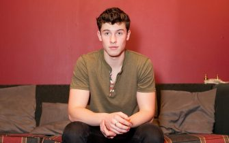 epa05275529 USsinger Shawn Mendes looks on during an interview with German news agency Deutsche Presse-Agentur (dpa), inBerlin,Germany, 24 April 2016. The musician will perform in a concert inBerlin later the same day.  EPA/KLAUS-DIETMARGABBERT