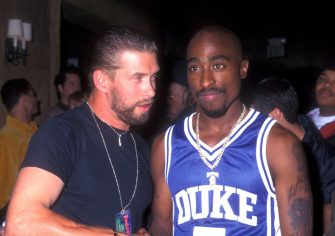 1996 file photo of Stephen Baldwin & Tupac Shakur (Photo by Barry King/WireImage)