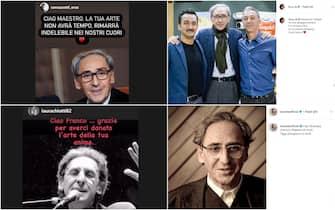 Cordoglio socal dei vip per ricordare Franco Battiato