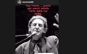 Laura Chiatti posta su Instagram un ricordo social per la morte di Franco Battiato