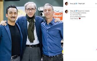 Linus posta su Instagram un ricordo social per la morte di Franco Battiato