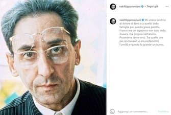 Nek posta unr ricordo di Franco Battiato poco dopo la sua morte
