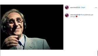 Saturino posta unr ricordo di Franco Battiato poco dopo la sua morte