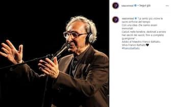 Vasco posta unr ricordo di Franco Battiato poco dopo la sua morte