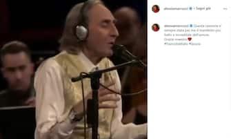 Alessia Marcuzzi posta unr ricordo di Franco Battiato poco dopo la sua morte