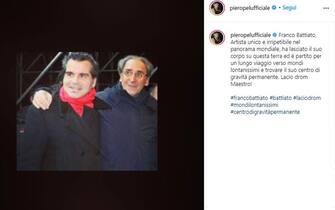 Piero Pelù posta unr ricordo di Franco Battiato poco dopo la sua morte