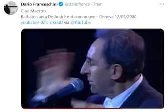 Il ministro Franceschini posta unr ricordo di Franco Battiato poco dopo la sua morte