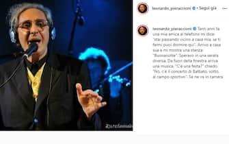 Leonardo Pieraccioni posta unr ricordo di Franco Battiato poco dopo la sua morte
