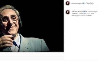 Stefano Accorsi posta unr ricordo di Franco Battiato poco dopo la sua morte