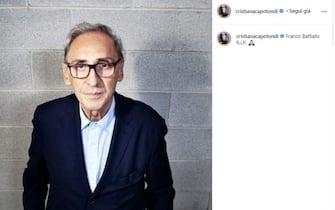 Cristiana Capotondi posta unr ricordo di Franco Battiato poco dopo la sua morte