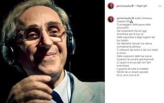 Claudia Gerini posta unr ricordo di Franco Battiato poco dopo la sua morte
