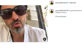 Samuel posta unr ricordo di Franco Battiato poco dopo la sua morte