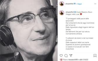 Elisa omaggia Franco Battiato nel giorno della sua scomparsa con un post su Instagram