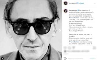 La cantante Laura Pausini ricorda Franco Battiato con un post su Instagram dopo la sua morte