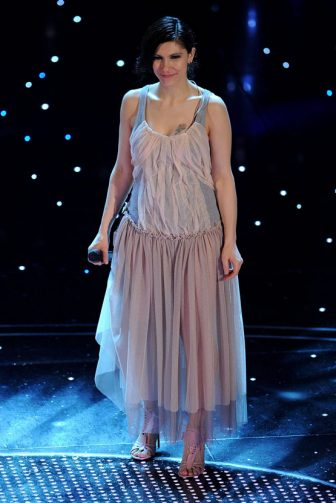Elisa Toffoli attends the 60th Sanremo Song Festival at the Ariston Theatre On February 18, 2010 in San Remo, Italy. (Photo by Venturelli/WireImage)