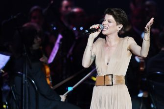 RHO, ITALY - MAY 25:  Alessandra Amoroso performs at Bocelli and Zanetti Night on May 25, 2016 in Rho, Italy.  (Photo by Francesco Prandoni/Getty Images for Bocelli & Zanetti Night)